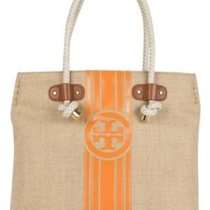 Tory Burch Canvas Tote with Rope Handles